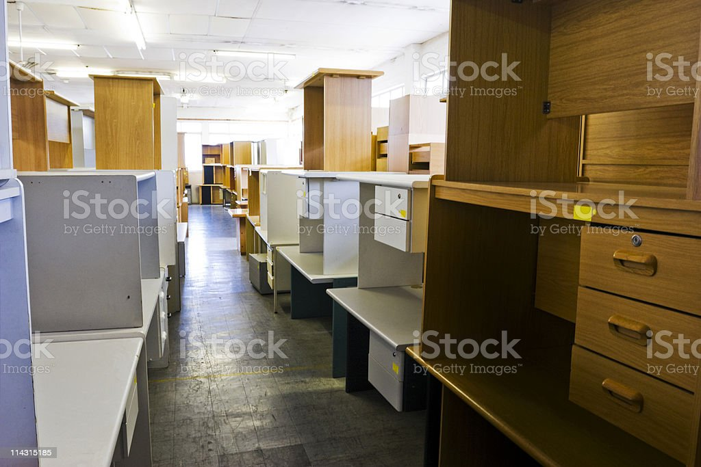 Used office furniture royalty-free stock photo