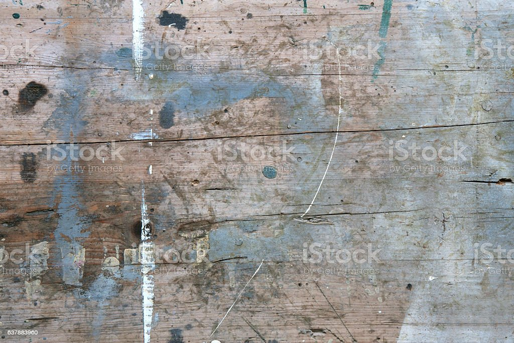 Used old wooden board stock photo