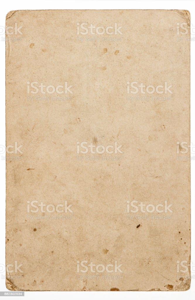 Used paper sheet edges isolated white background stock photo