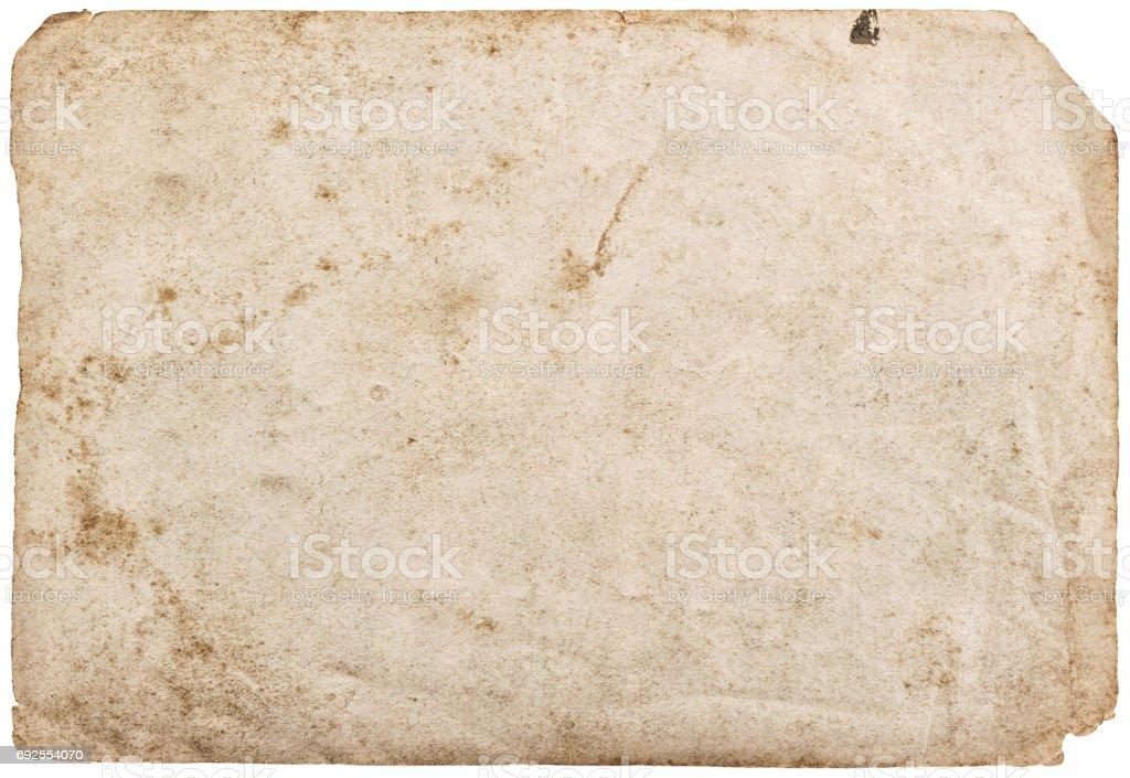 Folha de papel usado isolado textura de fundo branco - foto de acervo