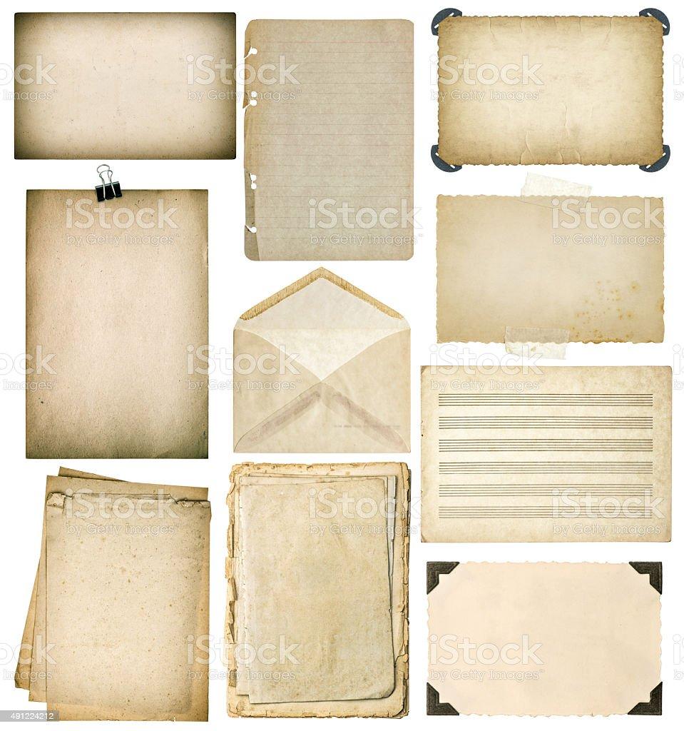 Set Papier Bettwäsche Verwendet Wird Vintagebuchseiten Fotorahmen ...