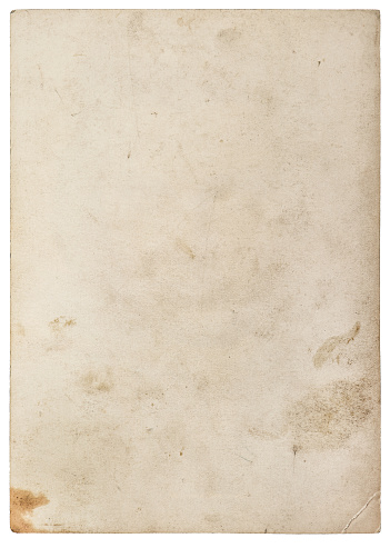 Used paper texture. Worn paper sheet isolated on white background