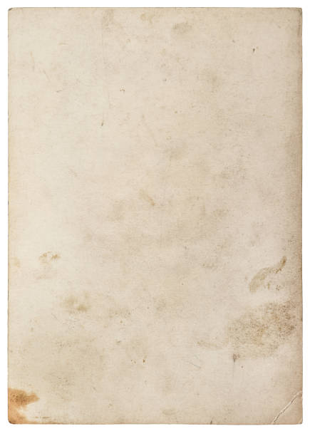 used paper texture worn sheet isolated white background - weathered stock pictures, royalty-free photos & images