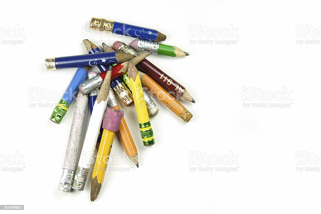 Used Pencils royalty-free stock photo