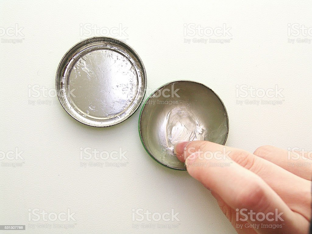 Used petroleum jelly stock photo