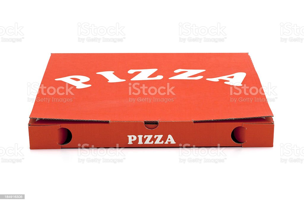 Used pizza box stock photo