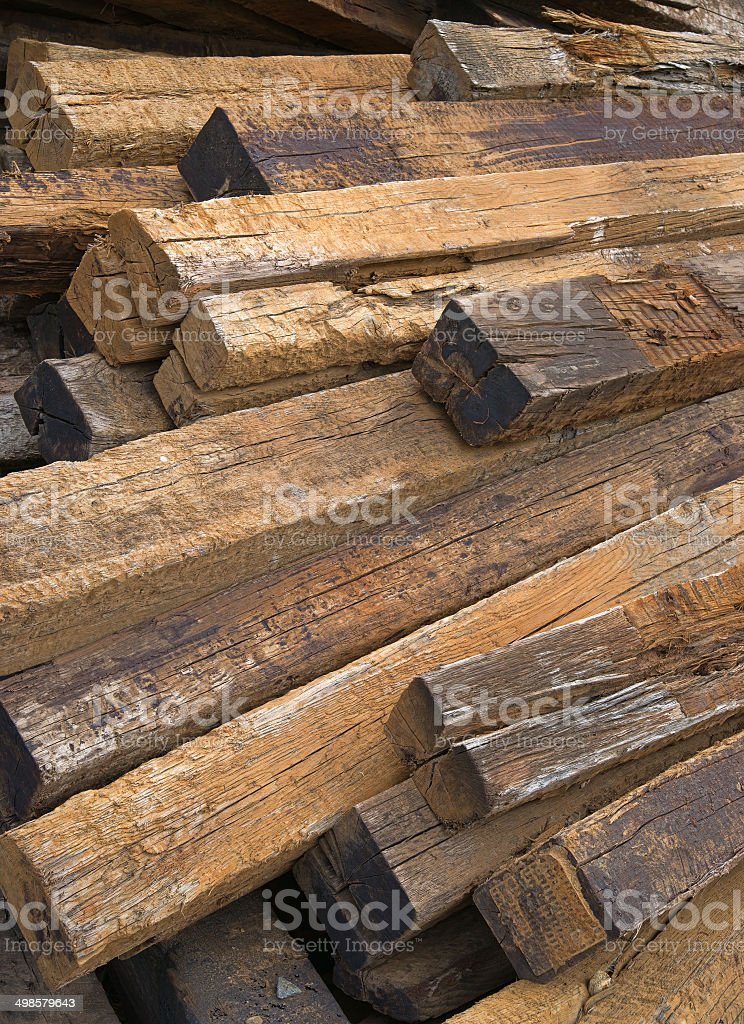 Used Railroad Ties Stock Photo - Download Image Now - iStock