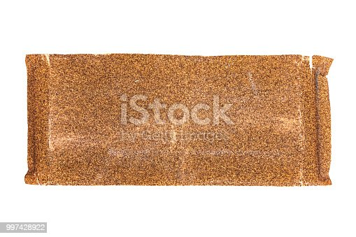 used sandpaper isolated on white background with clipping path