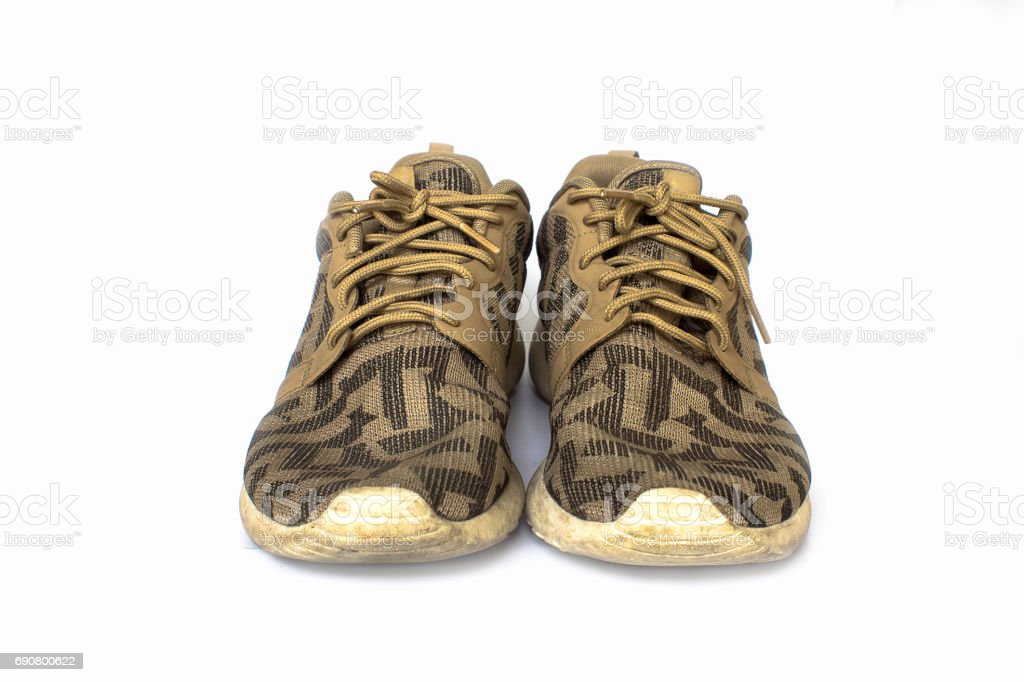 Used shoes. stock photo