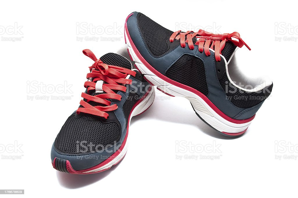 Used sneakers royalty-free stock photo