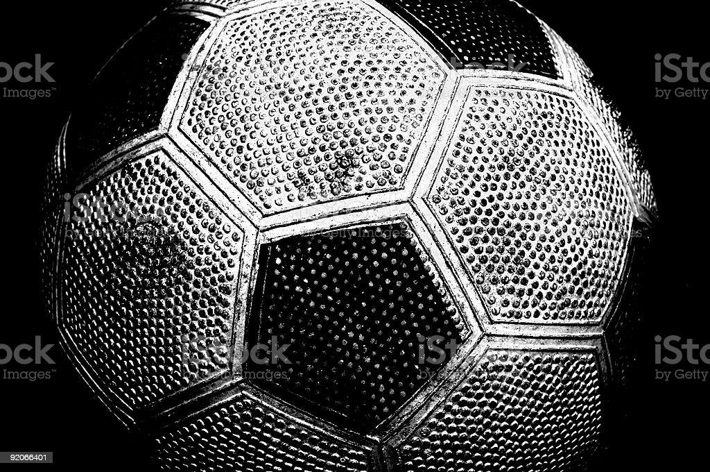 Used Soccerball stock photo