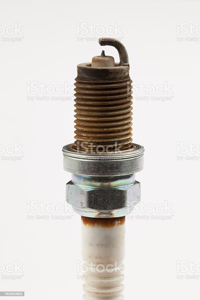 used spark plugs royalty-free stock photo