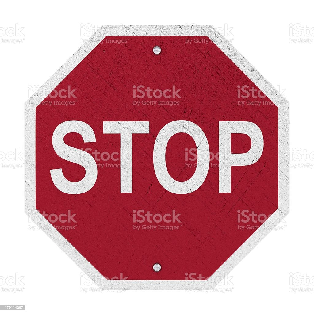 Used STOP Sign - Isolated stock photo