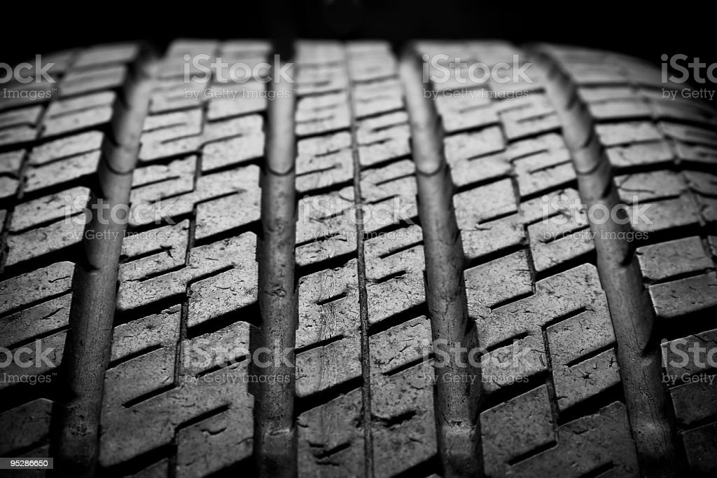 Used tire royalty-free stock photo