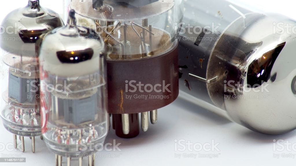 Used Vacuum Tubes From My Guitar Amplifier Stock Photo