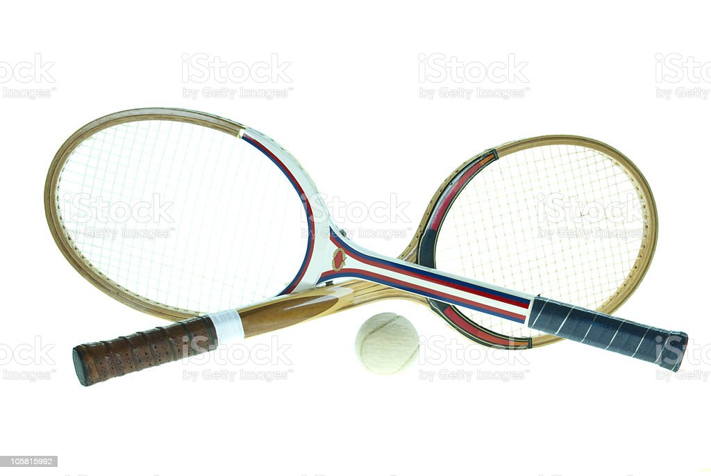 used wood rackets royalty-free stock photo