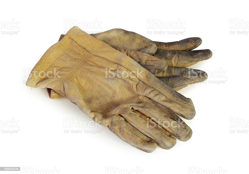 Used working gloves stock photo