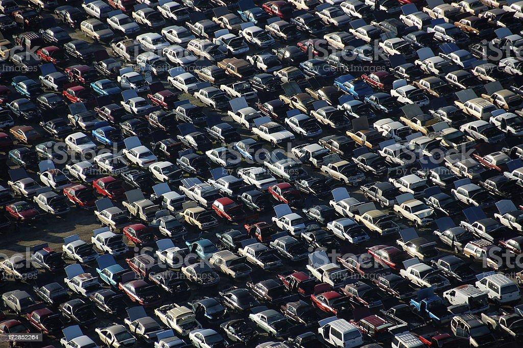 used-car junkyard stock photo