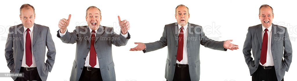 Useful  Businessman Expressions stock photo