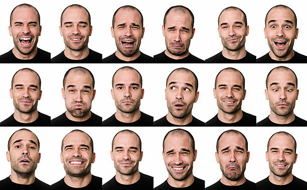 Useful faces stock photo