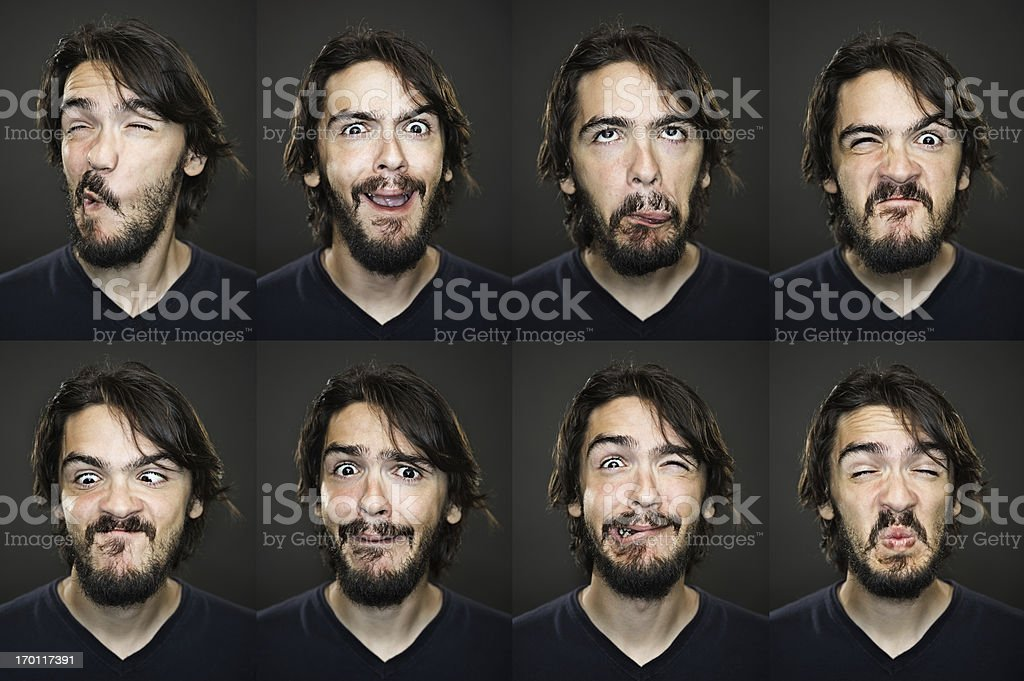 Useful faces stock photo