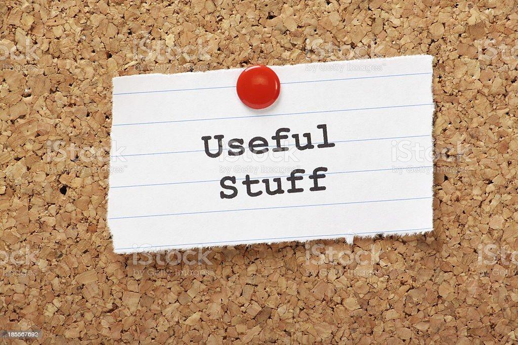 Useful Stuff royalty-free stock photo