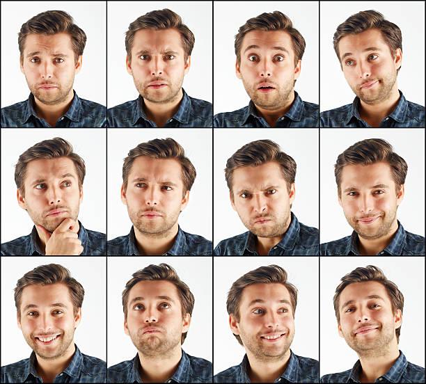 Usefull faces stock photo