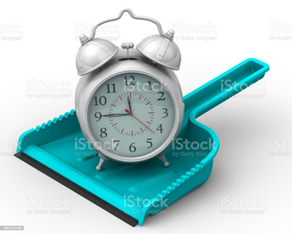 Uselessly wasted time. Concept stock photo