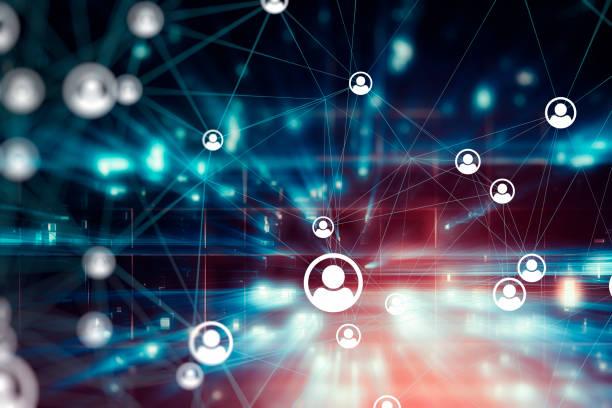 User based blockchain futuristic technology backgrounds stock photo