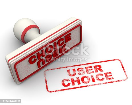 1181637623istockphoto User choice. Seal and imprint 1152444493