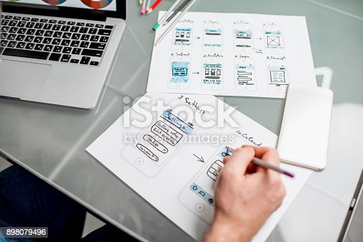 istock User experience designer working at the office 898079496