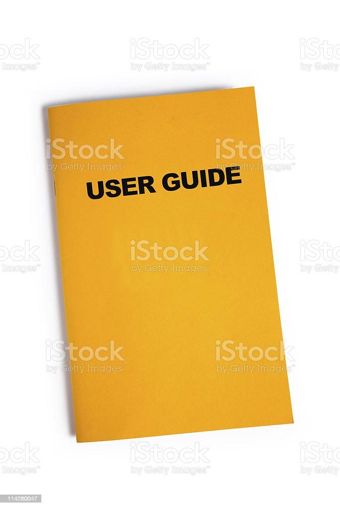User Guide stock photo