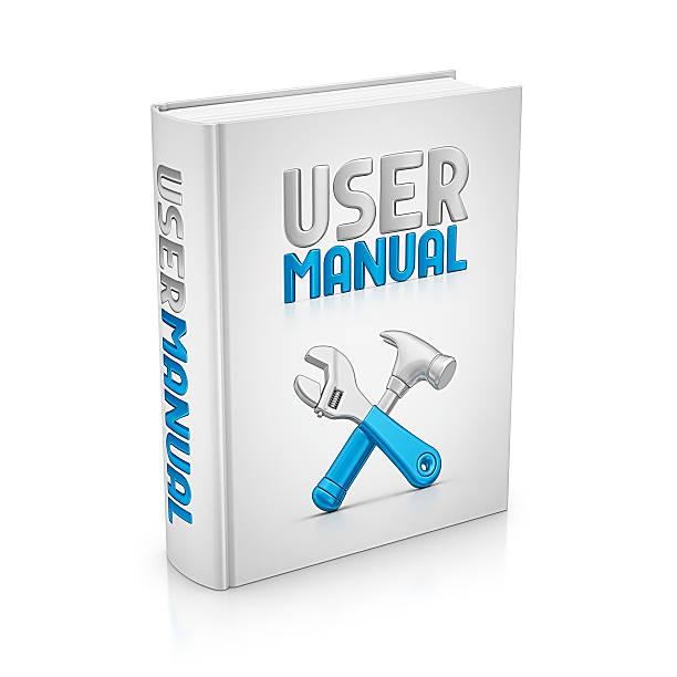 user manual book stock photo