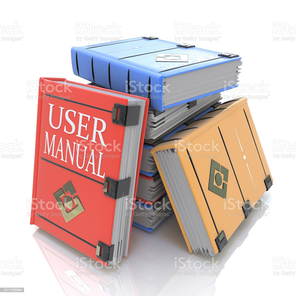 User manual books stock photo