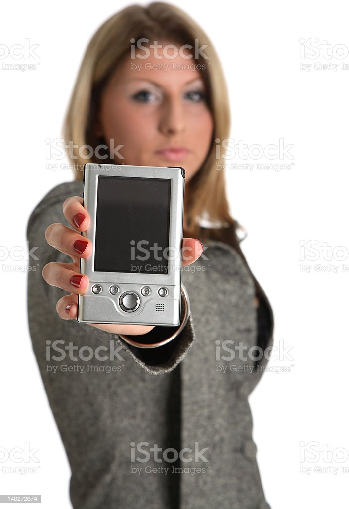 PDA User royalty-free stock photo