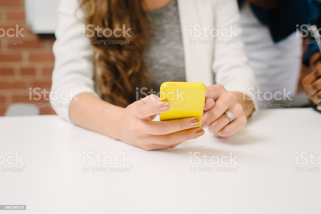 User with Mobile Phone royaltyfri bildbanksbilder
