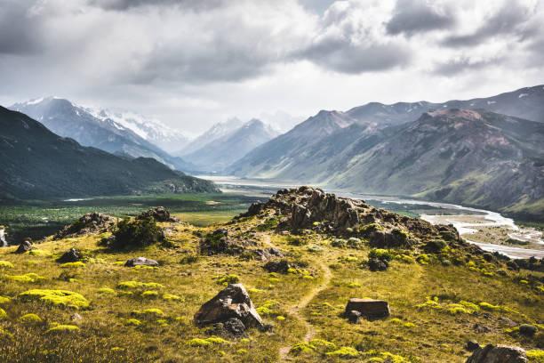 ushaia landscape in argentina stock photo