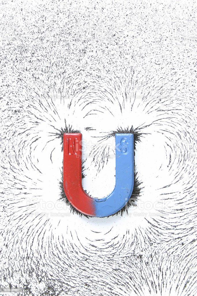u-shaped magnet stock photo