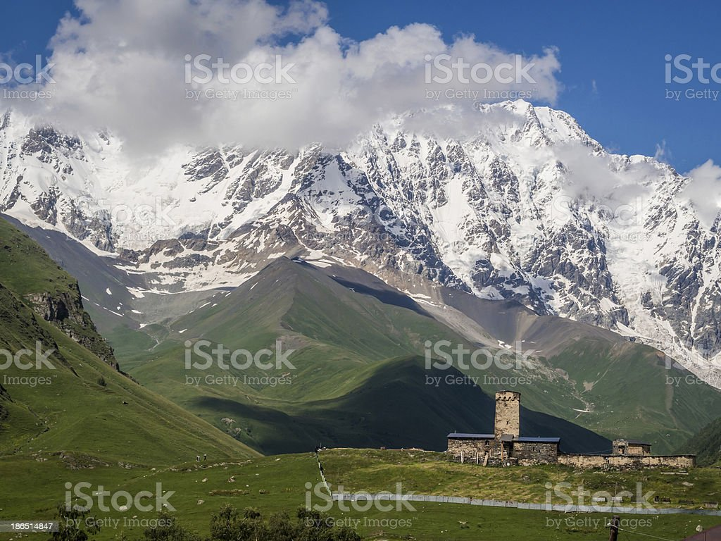 Ushguli royalty-free stock photo