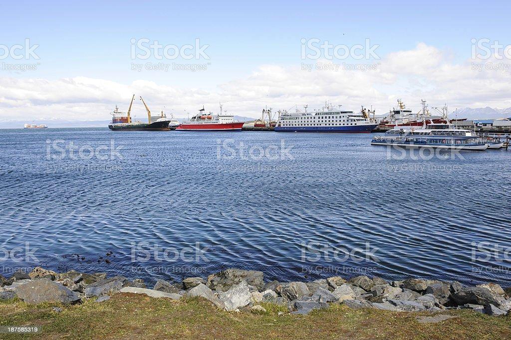 Ushuaia harbor royalty-free stock photo