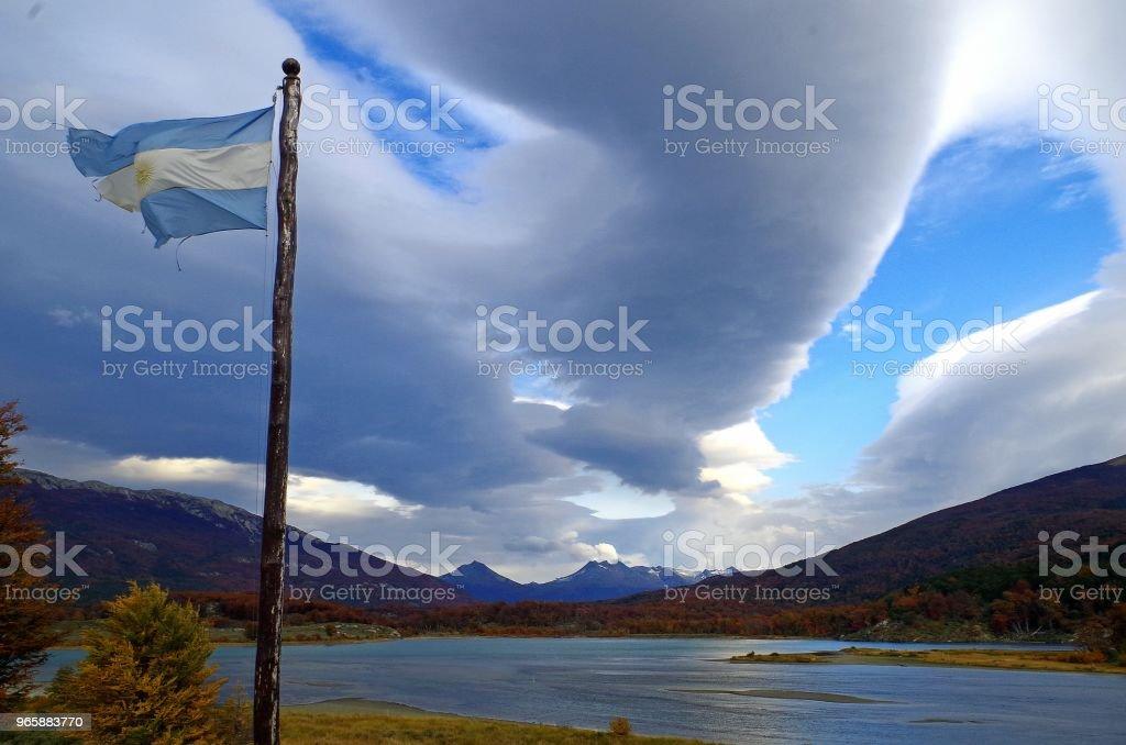 Ushuaia. The capital of Tierra del Fuego, Antártida e Islas del Atlántico Sur Province, Argentina. - Стоковые фото Аргентина роялти-фри