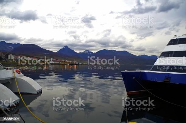 Ushuaia The Capital Of Tierra Del Fuego Antarctica And South Atlantic Islands Province Argentina - Fotografias de stock e mais imagens de Ao Ar Livre