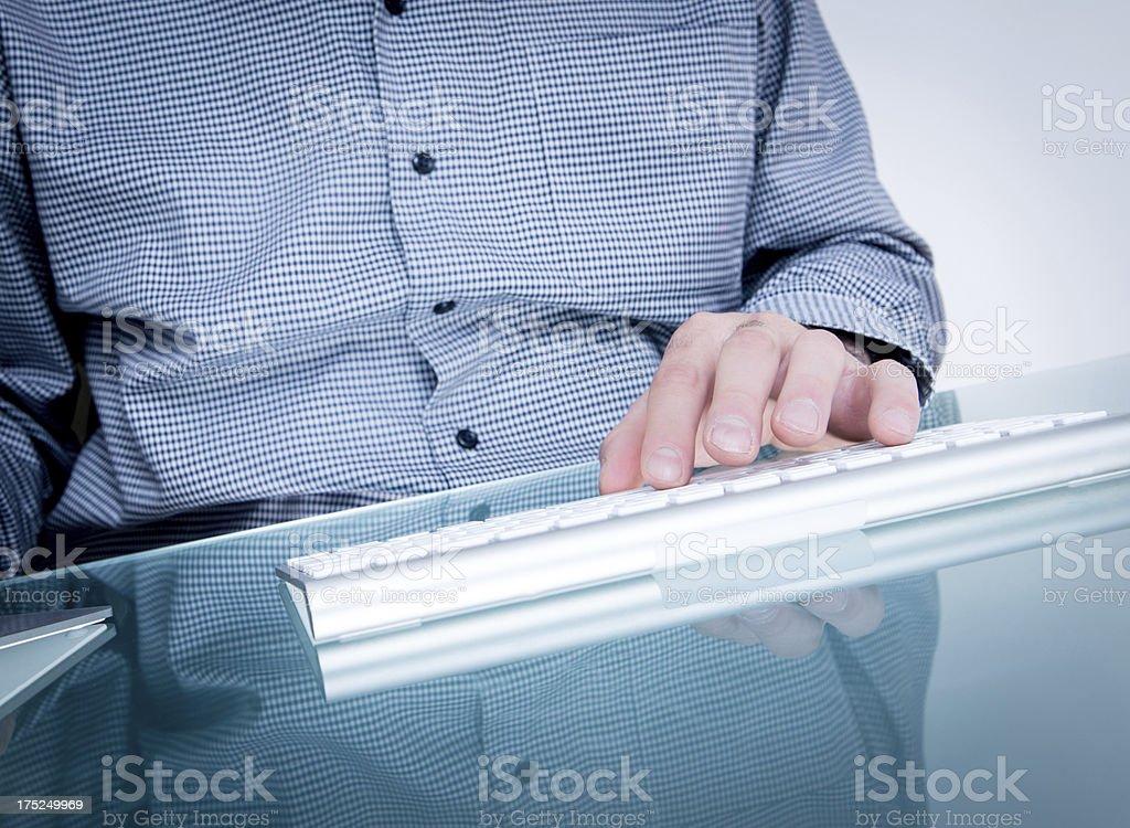 Using a keyboard royalty-free stock photo