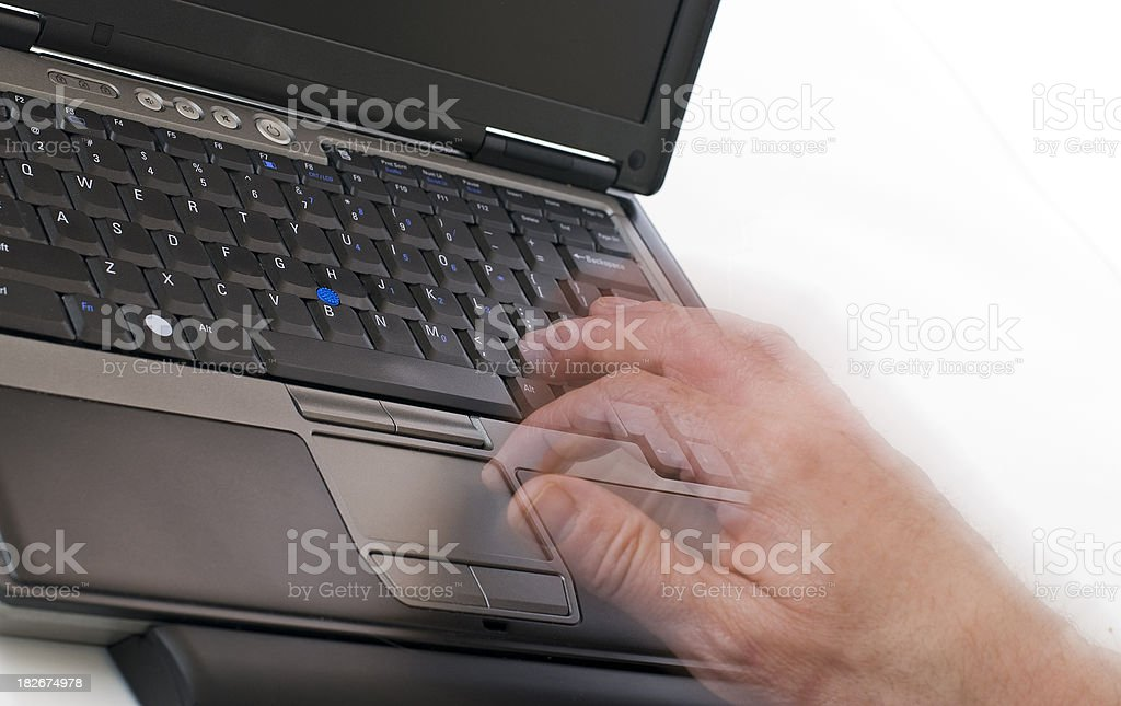 Using a laptop computer royalty-free stock photo