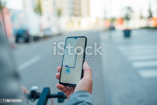 Man uses his phone to get directions to his destination