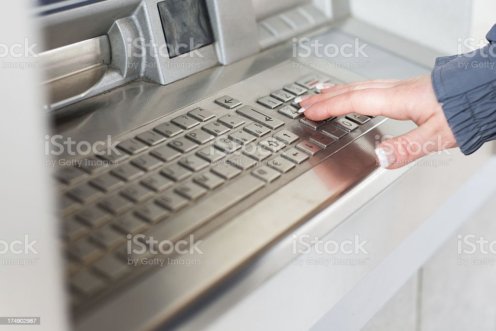Using ATM royalty-free stock photo