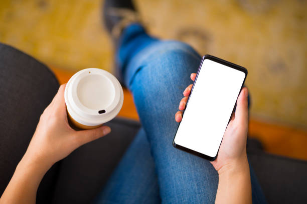 Verwenden eines leeren Bildschirms für Smartphones – Foto