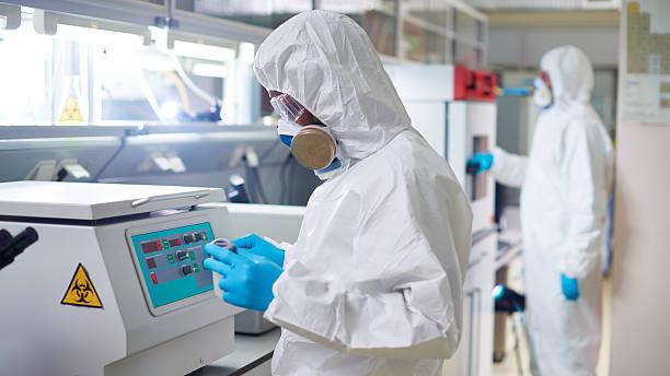 Using centrifuge stock photo