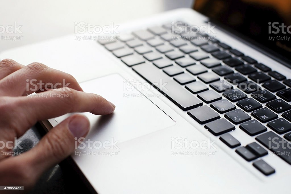 using computer stock photo