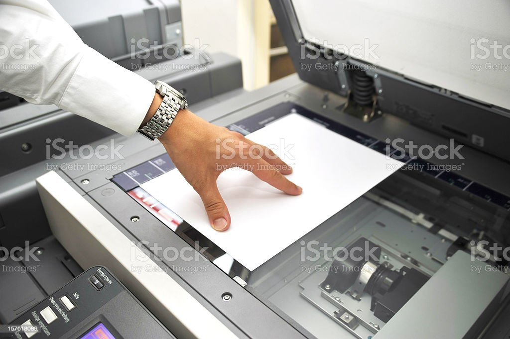 using copier royalty-free stock photo